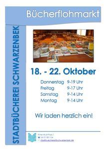 Plakat Bücherflohmarkt