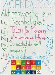 Plakat Aktionswoche zur Nachhaltigkeit