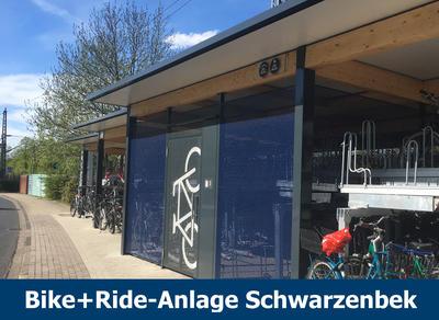Externer Link: Bike+Ride-Anlage Schwarzenbek