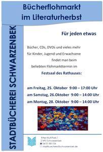 Bücherflohmarkt - Plakat