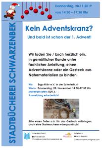Adventskranzbasteln - Plakat