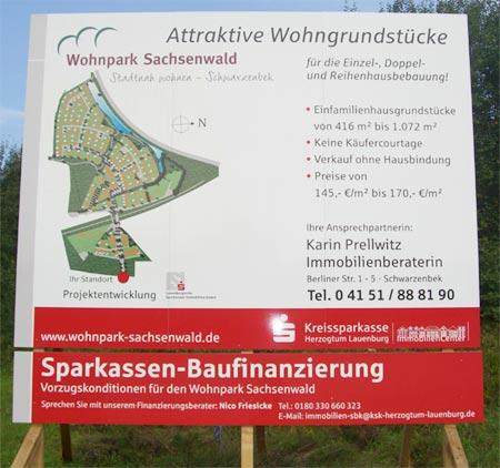 Baugrundstück Wohnpark Sachsenwald