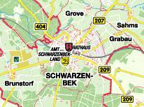 Schwarzenbek Karte
